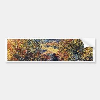 Spring Landscape By Pierre-Auguste Renoir Bumper Sticker