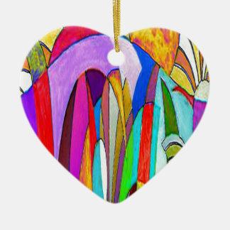 Spring Landscape Ceramic Heart Decoration