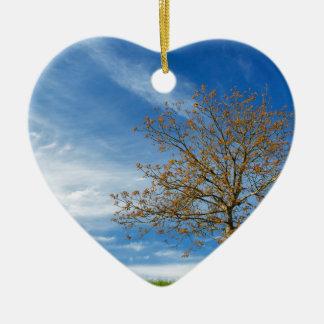 Spring Landscapes Ceramic Heart Decoration