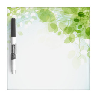 Spring Leaves Watercolor Dry Erase Board