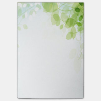 Spring Leaves Watercolor Post-it Notes