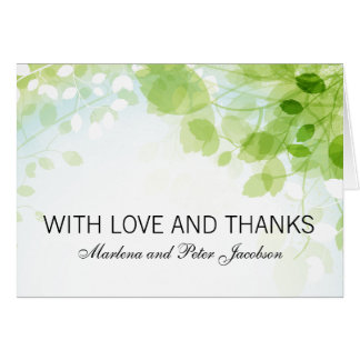 Spring Leaves Watercolor Thank You Stationery Note Card