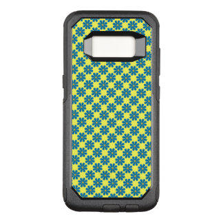 Spring light blue flowers, light yellow background OtterBox commuter samsung galaxy s8 case