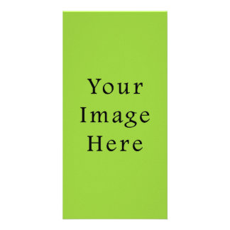 Spring Light Lime Green Color Trend Blank Template Customised Photo Card