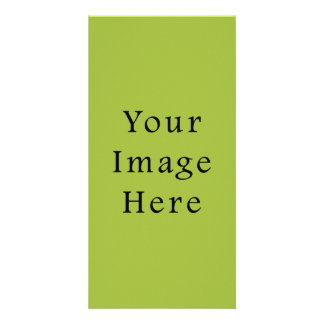 Spring Light Lime Green Color Trend Blank Template Customized Photo Card