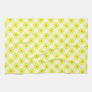Spring light yellow flowers for kitchen tea towel