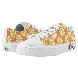 Spring light yellow flowers on salmon low tops