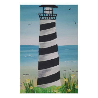Spring Lighthouse Stationery Paper