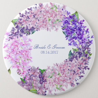 Spring Lilac Flower Blossom-Floral Wedding 6 Cm Round Badge