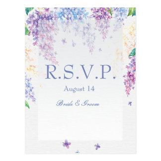 Spring Lilac Flower Blossom-Floral Wedding RSVP Postcard