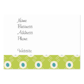 Spring Lime Green Blue Circles Mother's Day Gift Pack Of Chubby Business Cards