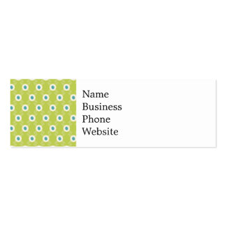 Spring Lime Green Blue Circles Mother's Day Gift Pack Of Skinny Business Cards