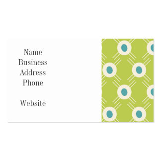 Spring Lime Green Blue Circles Mother's Day Gift Pack Of Standard Business Cards