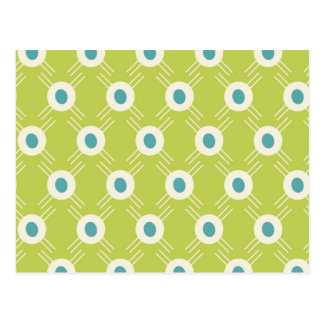 Spring Lime Green Blue Circles Mother's Day Gift Postcard