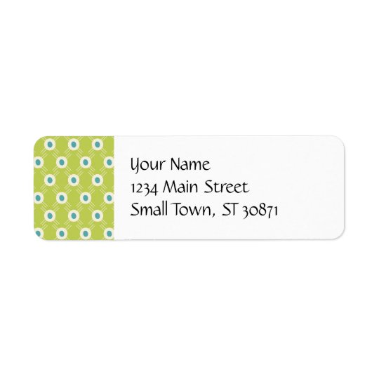 Spring Lime Green Blue Circles Mother's Day Gifts Return Address Label