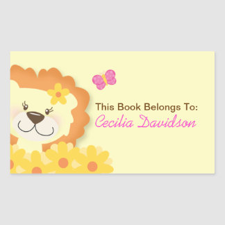 Spring Lion (Yellow) Book Plate Sticker