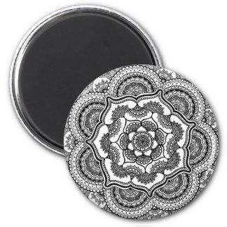 Spring Lotus 6 Cm Round Magnet