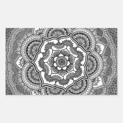 Spring Lotus Rectangle Stickers