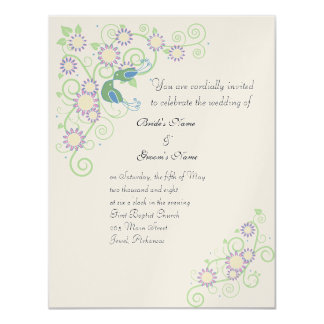 Spring Love Birds 11 Cm X 14 Cm Invitation Card