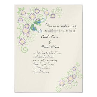 Spring Love Birds 4.25x5.5 Paper Invitation Card