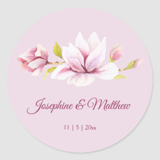 Spring Magnolias Floral Wedding Stickers