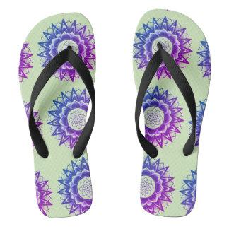 spring mandala flips flip flops