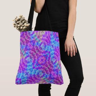 Spring Mandala Kaleidoscope Pattern Pri Print Tote