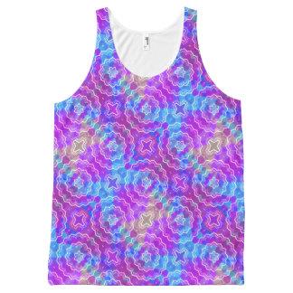 Spring Mandala Kaleidoscope Pattern Print Tank