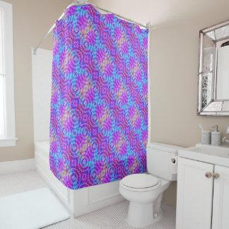 Spring Mandala Kaleidoscope Pattern Shower Curtain