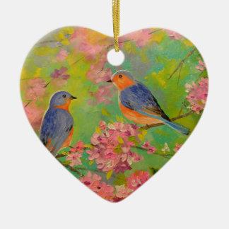 Spring Melody Ceramic Heart Decoration