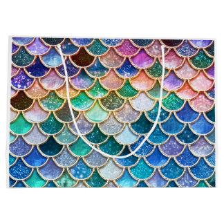 Spring Mermaid Glitter Scales- Mermaidscales Large Gift Bag
