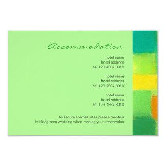Spring mint Wedding Enclosure Card 9 Cm X 13 Cm Invitation Card