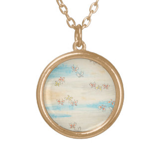 Spring Misty Flowers Gold Plated Necklace
