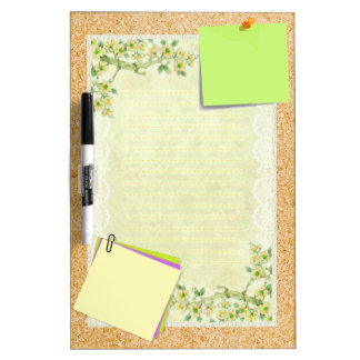 Spring Morning Blossoms Dry Erase Board
