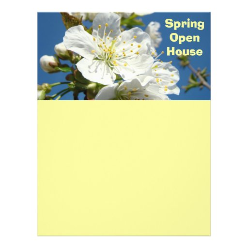 Spring Open House Flyer paper Create Flyers