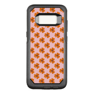 Spring orange clover and light pink background OtterBox commuter samsung galaxy s8 case
