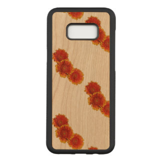 Spring Orange Flowers Carved Samsung Galaxy S8+ Case