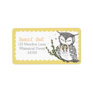 Spring Owl Address Labels