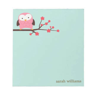 Spring Owl Notepad