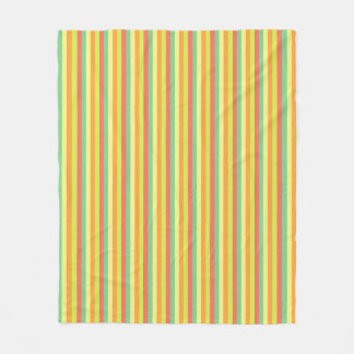 Spring Palette Stripes Fleece Blanket