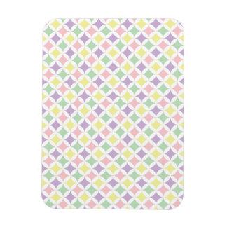 Spring Pastel Diamond Pattern Rectangular Photo Magnet