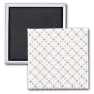 Spring Pastel Diamond Pattern 2 Inch Square Magnet