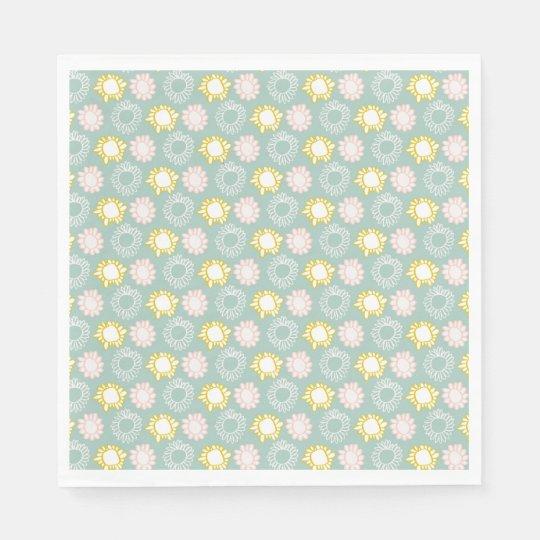 Spring Pastel Flowers Paper Napkins