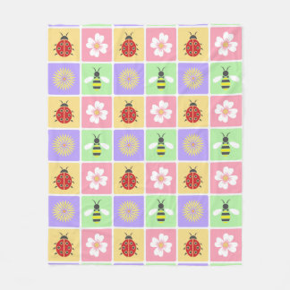 Spring Patches Fleece Blanket