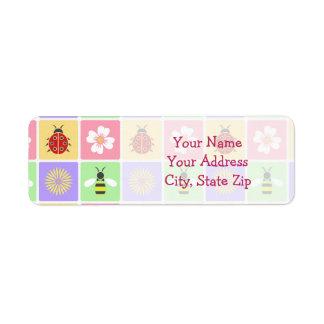 Spring Patches Return Address Label