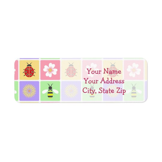 Spring Patches Return Address Label