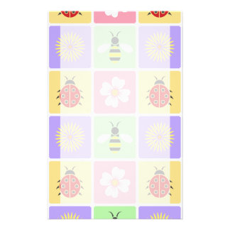 Spring Patches Stationery