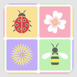 Spring Patches Sticker