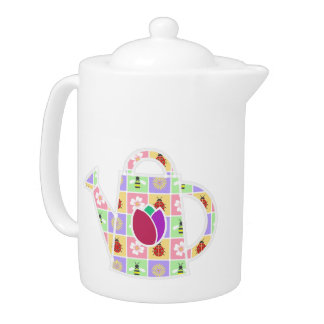 Spring Patches Teapot
