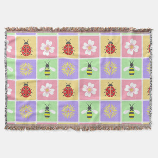 Spring Patches Throw Blanket